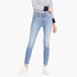 NWOT J. Crew 9 inch high rise Toothpick Jean